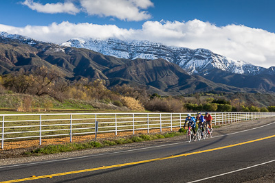 Bicyclists riding on Ojai Scenic Hwy 150