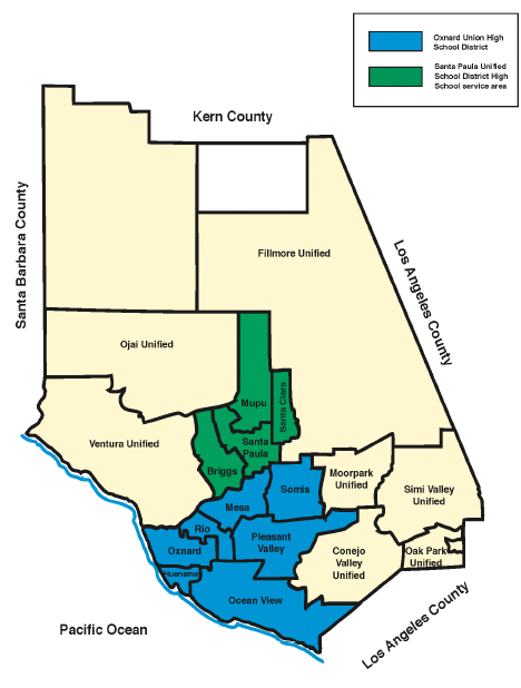 Ventura County School Districts Map