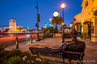 Old Town Camarillo at Night