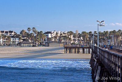 Port Hueneme seen from the end of the Hueneme Pier
