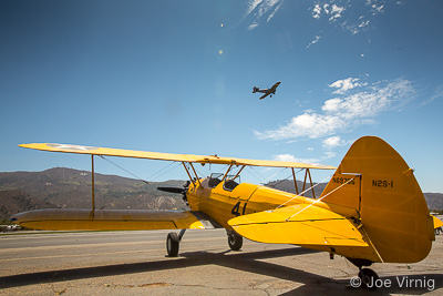 Classic Plane at the Santa Paula Airport