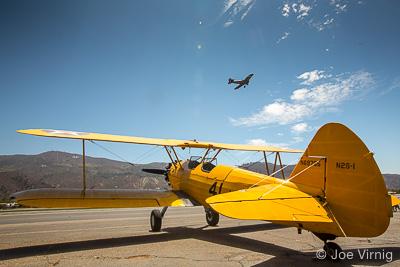 Classic Plane at the Santa Paula Airport