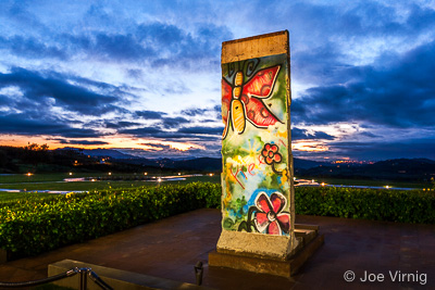 Piece of Berlin Wall at the Reagan Library