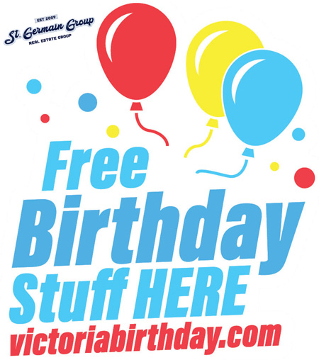 Free Birthday Victoria BC by Don St Germain
