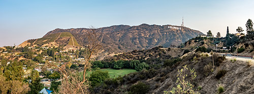 hollywood hills panoramic view