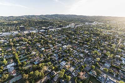 sherman oaks aerial view
