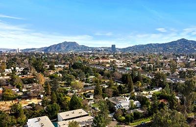 valley village aerial view