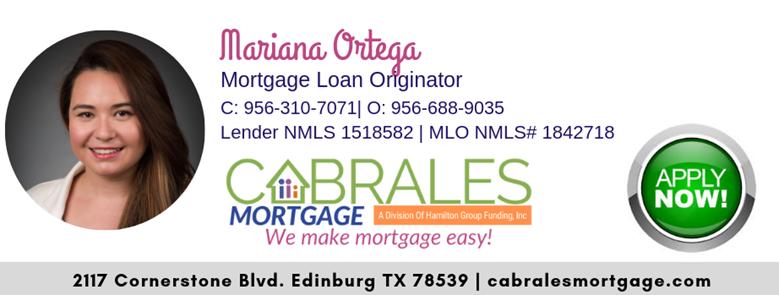 Mariana Ortega Cabrales Mortgage