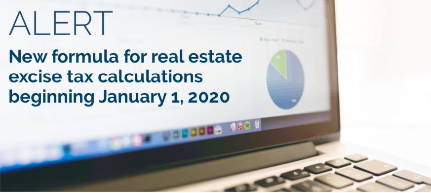 ALERT-Jan 2020 RE Excise Tax Changes