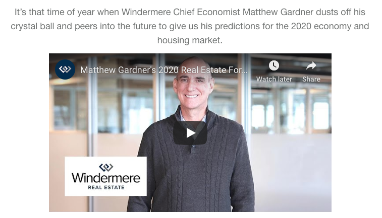 Matthew Gardner's 2020 Real Estate Forecast Video