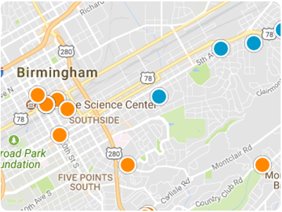 Birmingham Real Estate Map Search