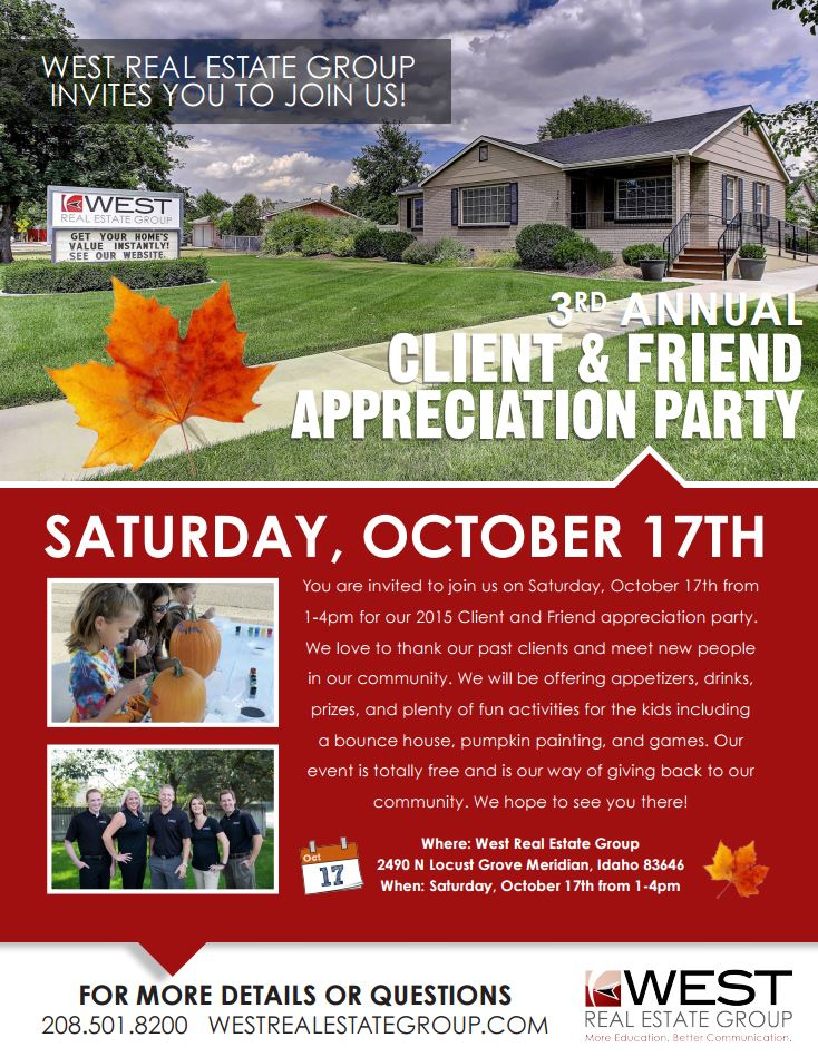 3rd Annual Clients and Friends Appreciation Invite Flyer