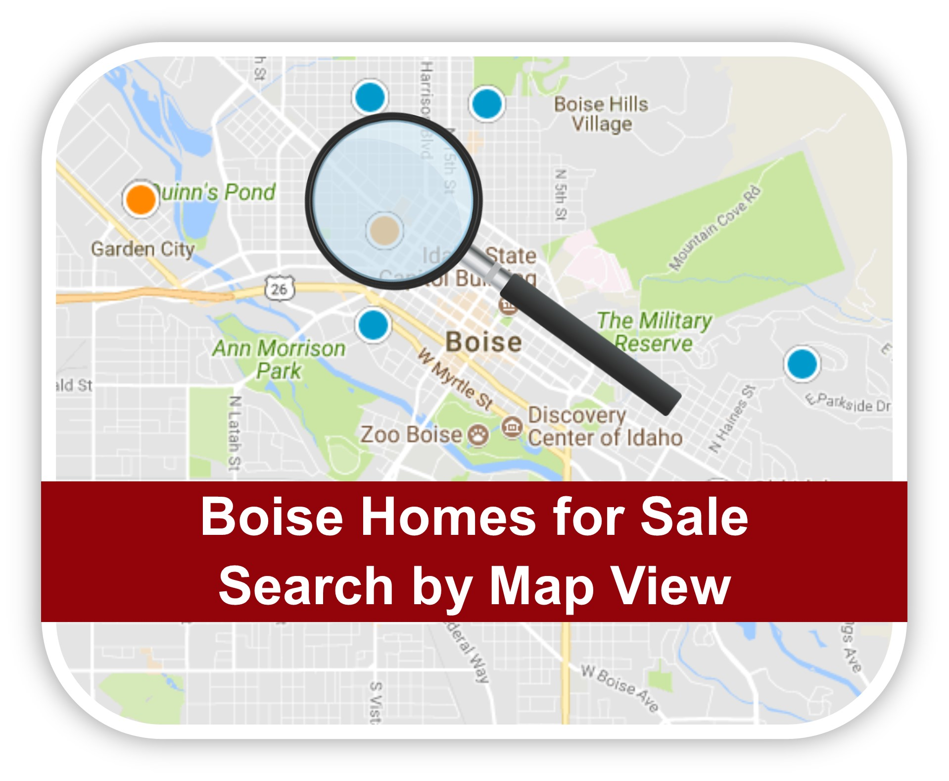 Search Homes for Sale in Boise, Idaho by Map View