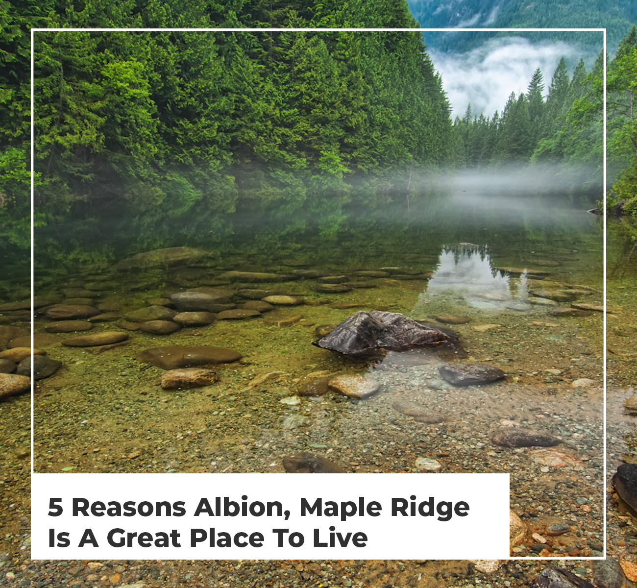 Reasons to Live In Albion BC