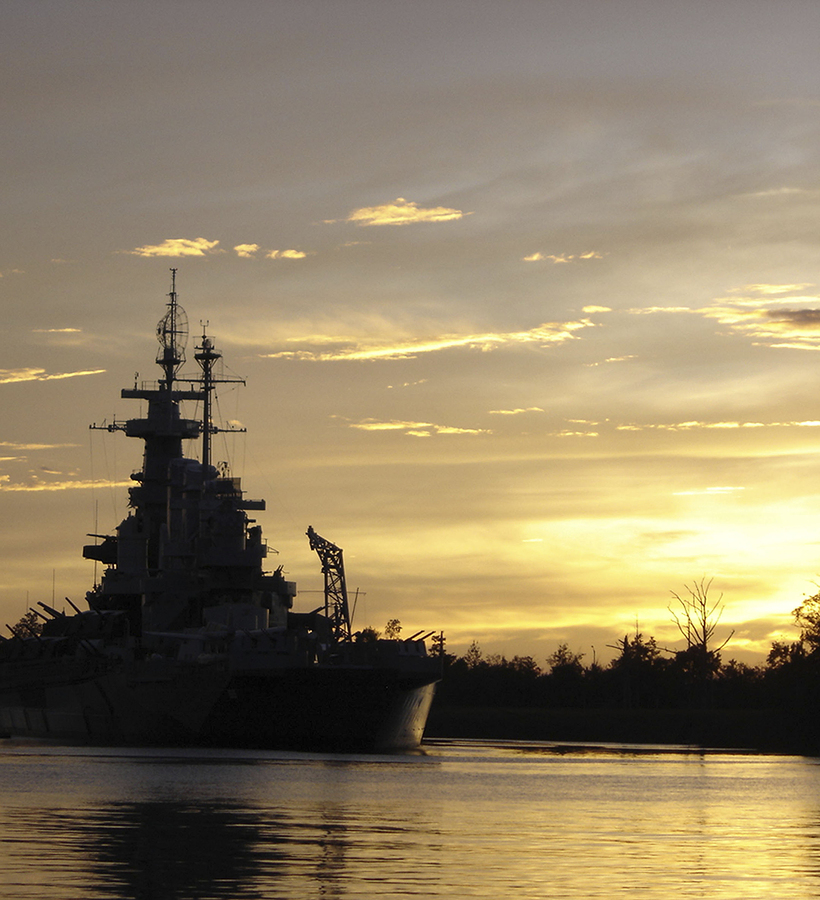 Visit a battleship on Wilmington property.