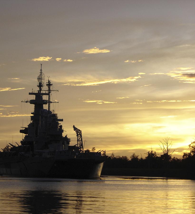 Visit a battleship on Wilmington property.