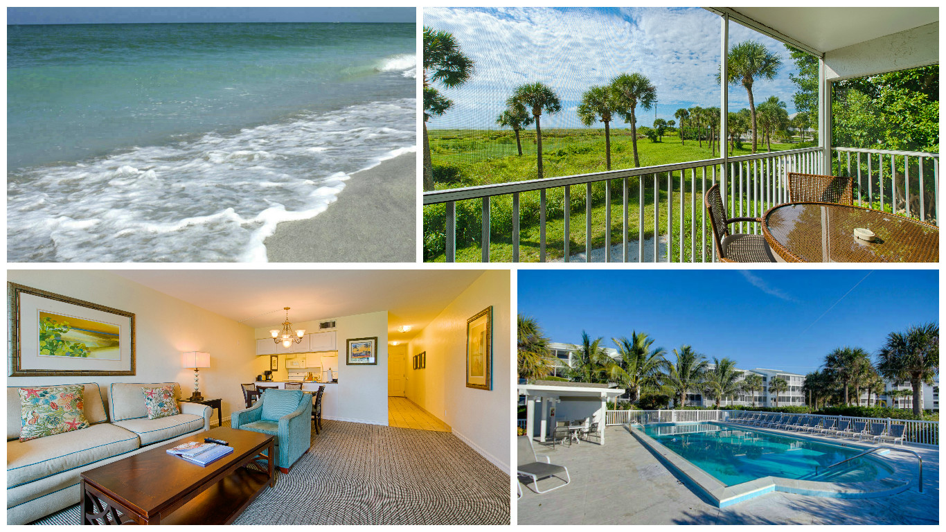 2417 Beach Villas Captiva South Seas Resort 1 Bedroom Bathroom Direct Gulr Front Daily Al