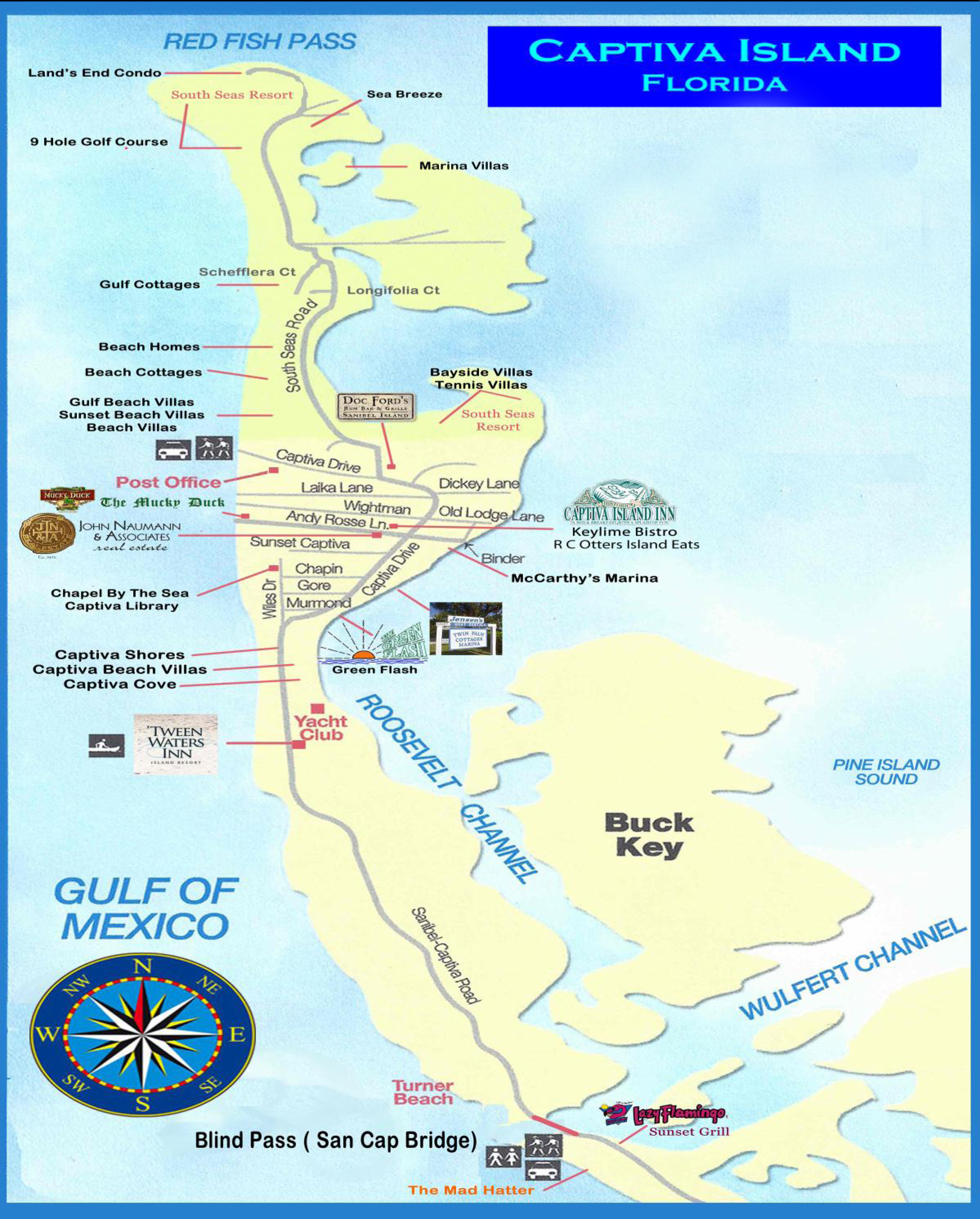 Captiva & Sanibel Island Map