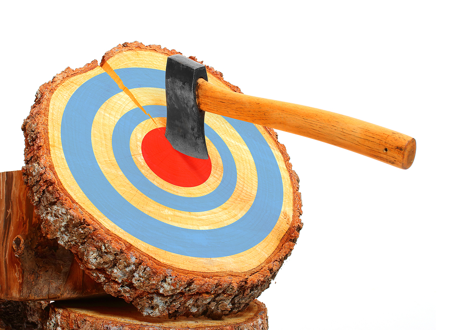 Everyone living in Wisconsin Dells learn axe throwing.