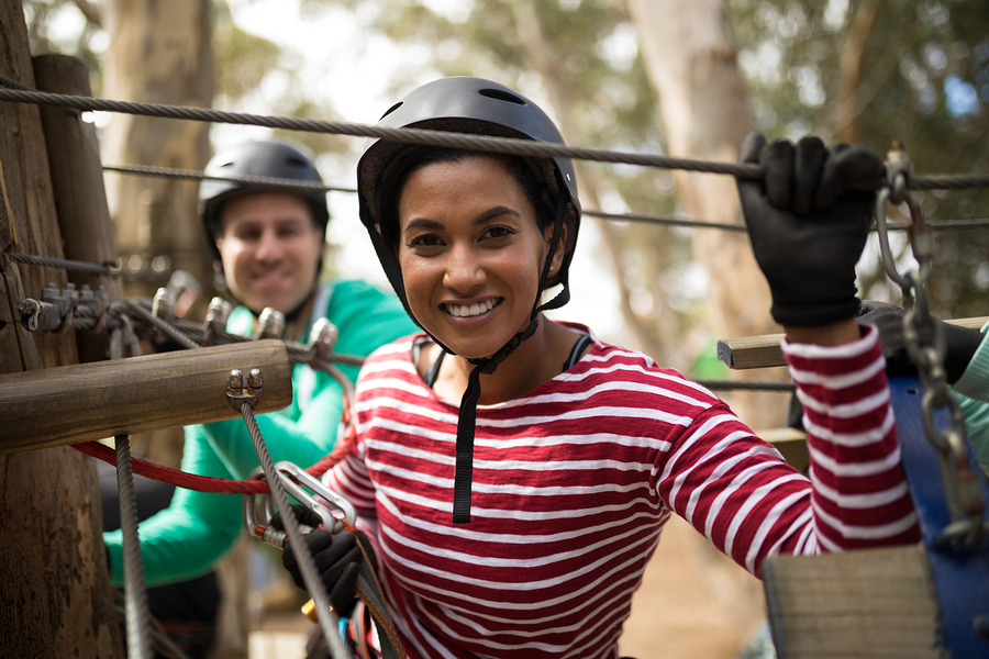 Go ziplining near Lake Delton homes