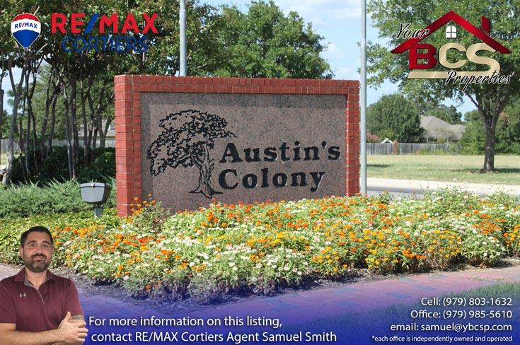 austins colony bryan texas entrance