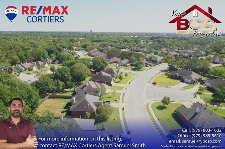 austins colony bryan texas aerial view 2