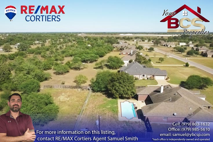 austins estates bryan texas aerial view 1