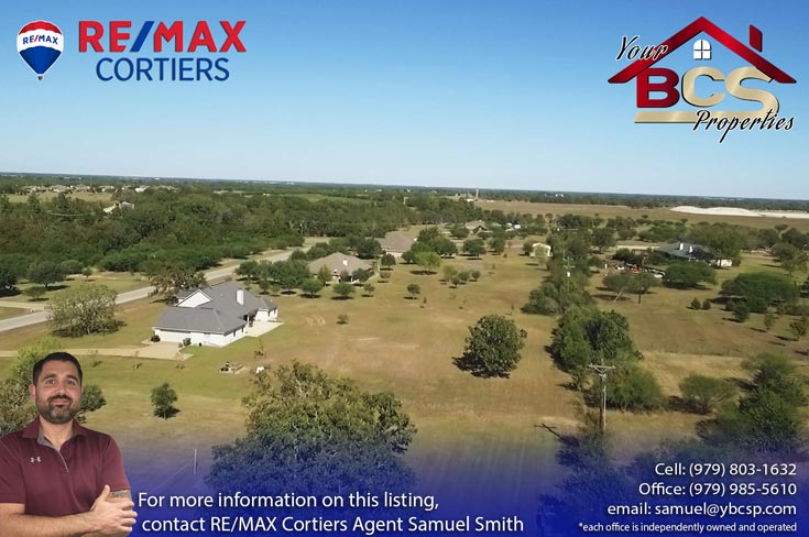 austins estates bryan texas aerial view 3
