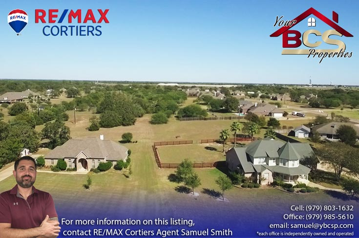 austins estates bryan texas aerial view 4