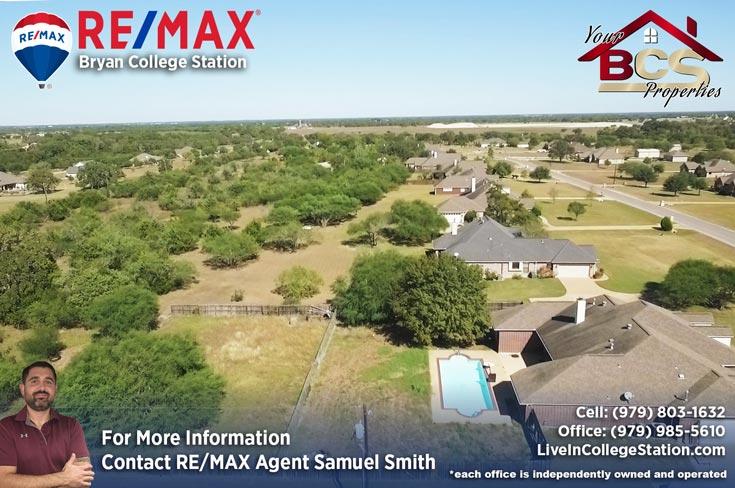 austins estates bryan texas home with pool aerial view