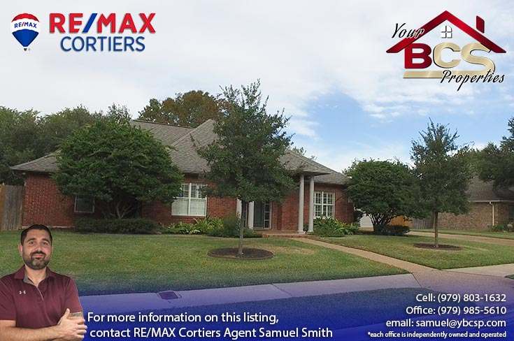 brandon heights college station texas suburban home with wooded lot