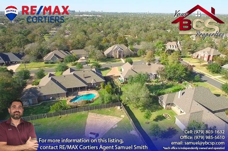 brandon heights college station texas suburban home with pool