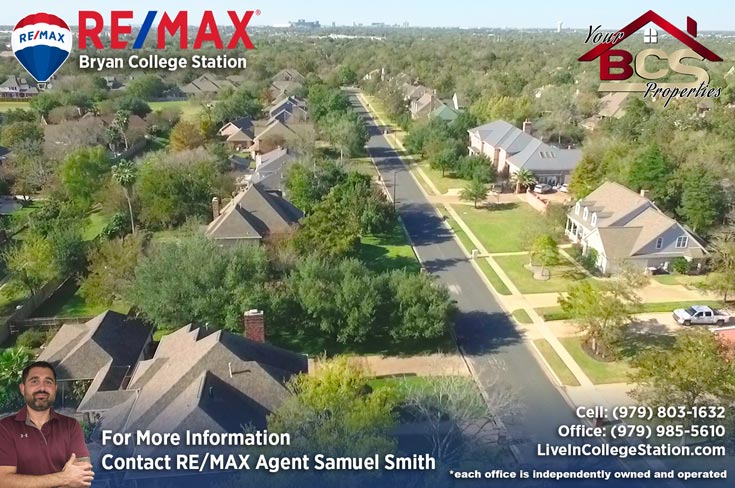 brandon heights college station texas aerial street view
