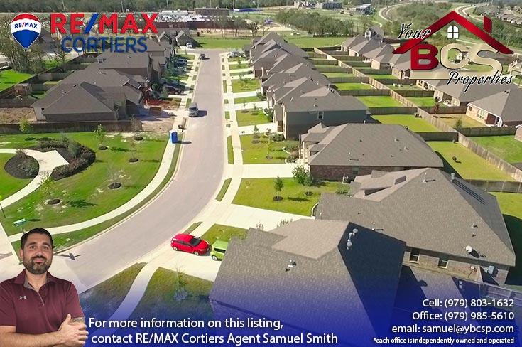 bridgewood neighborhood college station texas aerial view