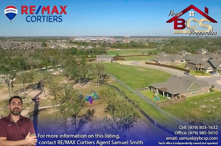bridgewood neighborhood college station texas aerial view of play area