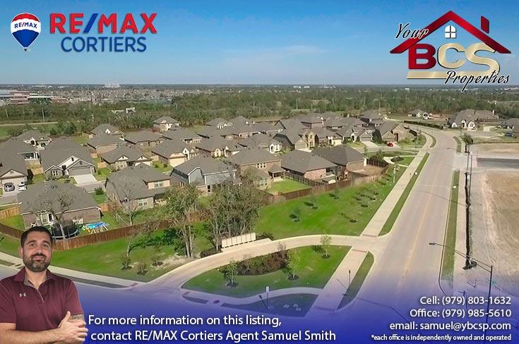bridgewood neighborhood college station texas aerial view of subdivision