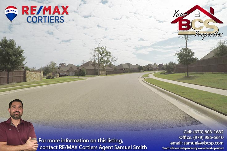 castle rock subdivision college station texas neighborhood view