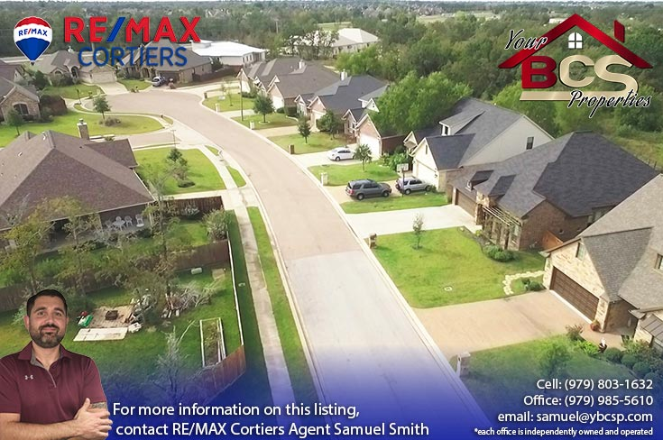 castle rock subdivision college station texas aerial view of neighborhood