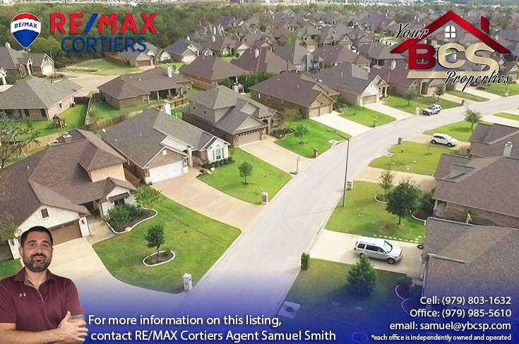 castle rock subdivision college station texas aerial view of subdivision