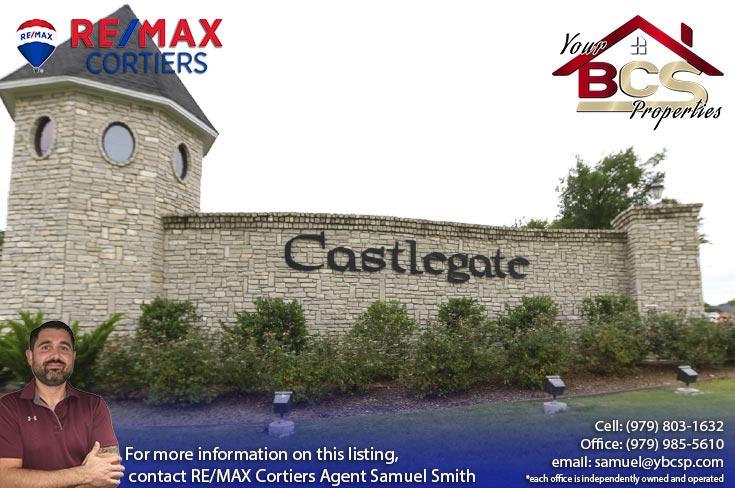 castlegate neighborhood college station texas entrance
