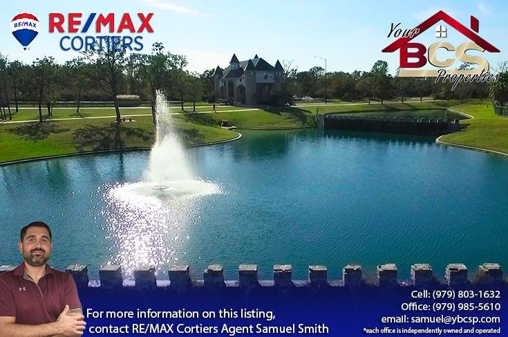 castlegate neighborhood college station texas water fountain