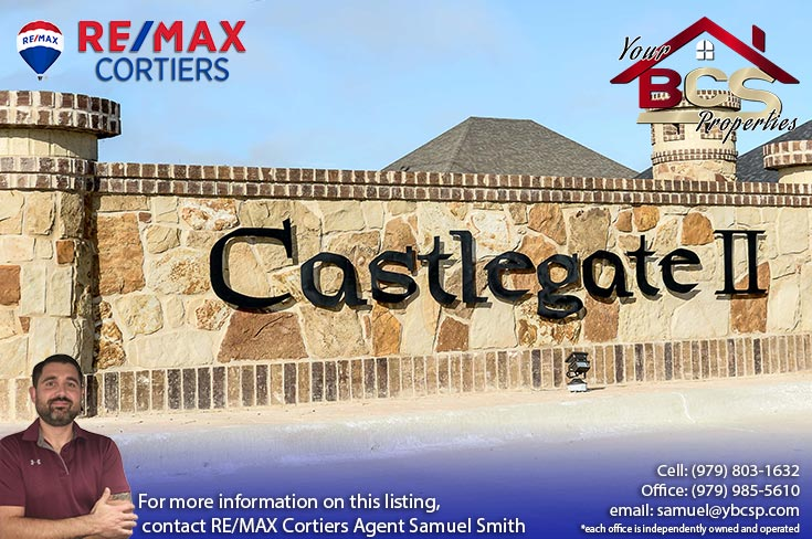 castlegate ii subdivision college station texas entrance gate