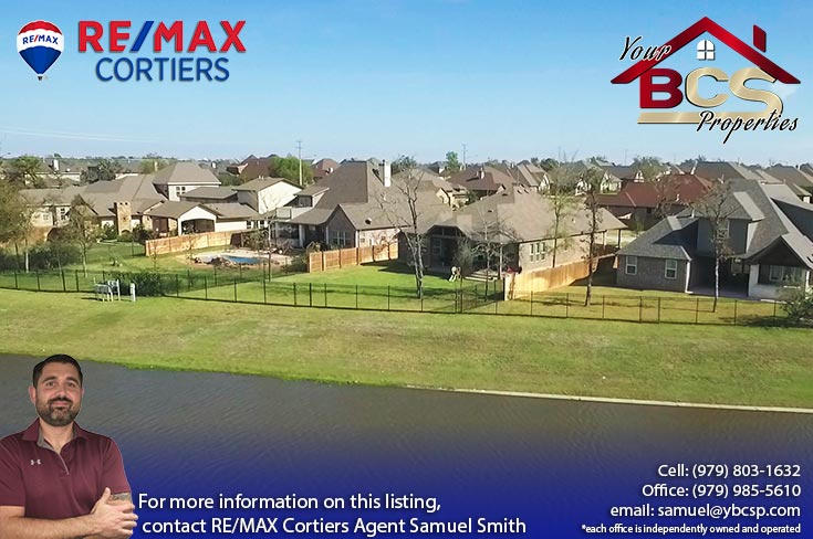 castlegate ii subdivision college station texas neighborhood aerial view