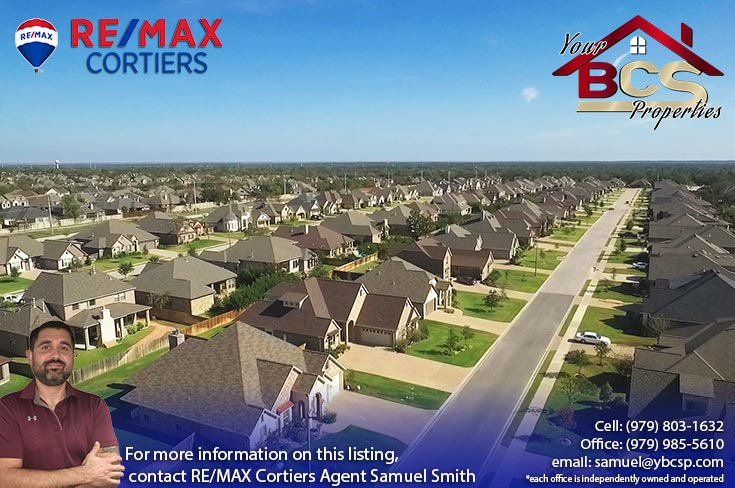 castlegate ii subdivision college station texas large aerial view of subdivision