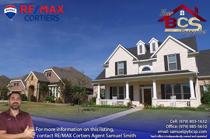 castlegate ii subdivision college station texas elegant suburban home