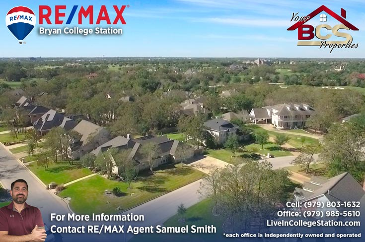 copperfield bryan texas wide aerial view of subdivision