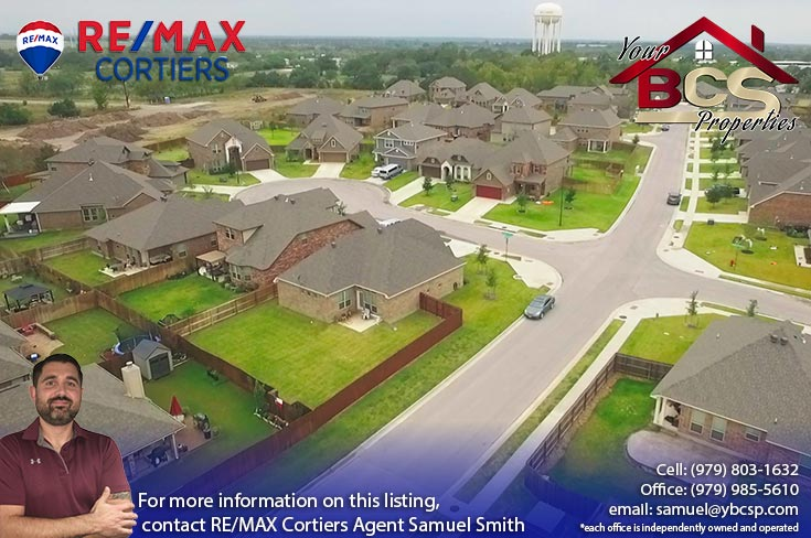 creek meadows college station texas aerial view of subdivision