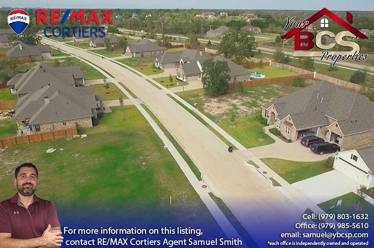 crossing at lick creek college station texas aerial view of suburban street street