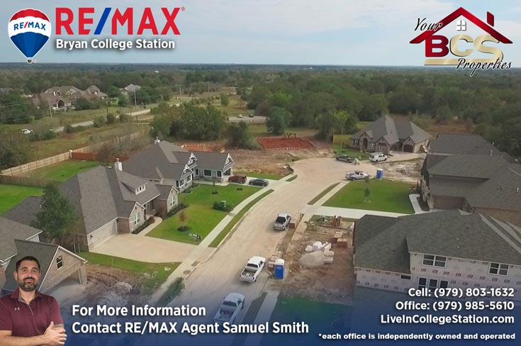 crossing at lick creek college station texas newly built homes aerial view