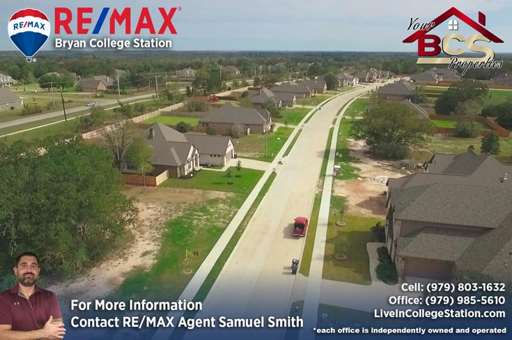 crossing at lick creek college station texas aerial view